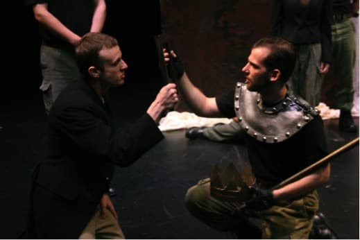 As Bolingbroke, in a tour of Richard II with the Shakespeare Theatre of New Jersey